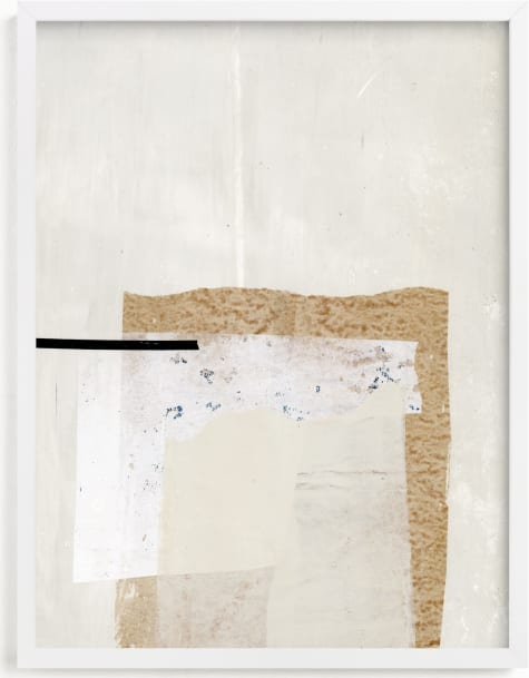 This is a white art by Jennifer Daily called You Should Know I.