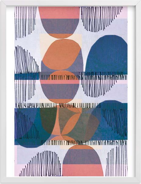 This is a blue art by Jenna Skead called Boho Screenprint III.