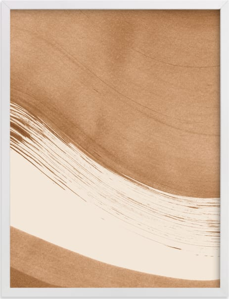This is a brown art by Melissa Selmin called Boundary No. 1.