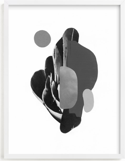 This is a black and white art by Field and Sky called Organic Curves I.