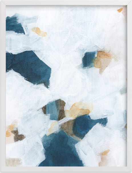 This is a blue art by M Gloria Hunter called Betwixt & Between II.