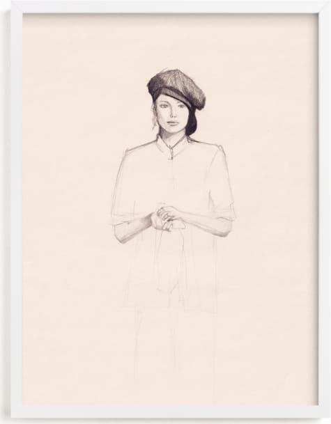 This is a beige art by Marta González called Minimalist Woman.