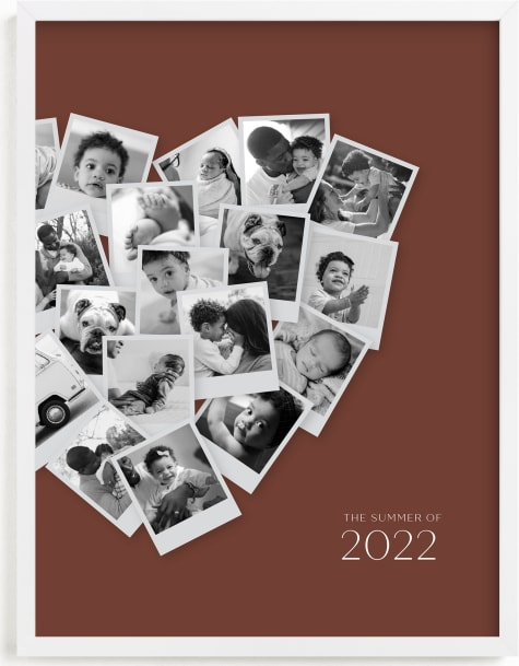This is a brown photo art by Minted called Modern Heart Snapshot Mix® Warm Tones.