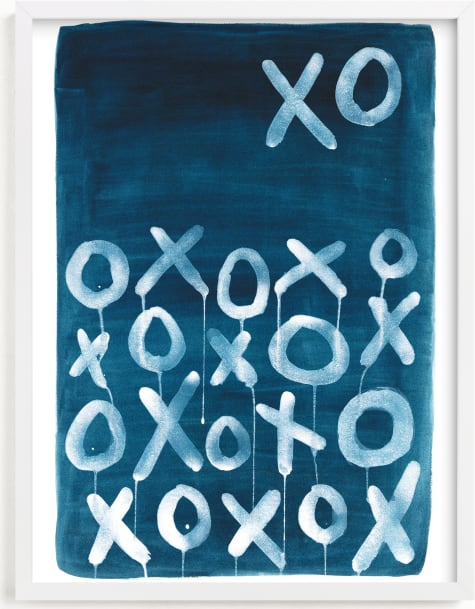 This is a blue art by Michelle Owenby Design called XO Lunar.