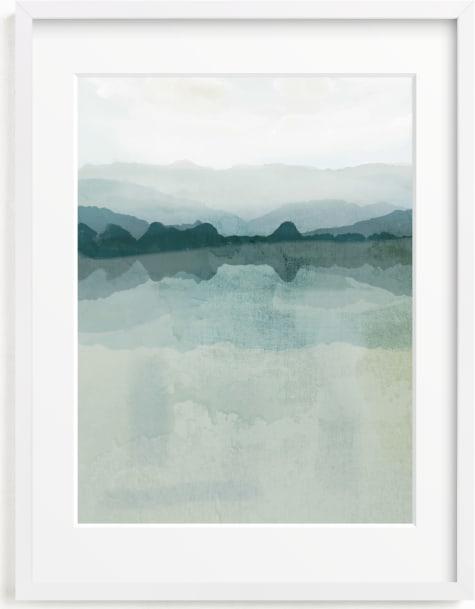 This is a blue art by Karen Kardatzke called Cool Reflections.