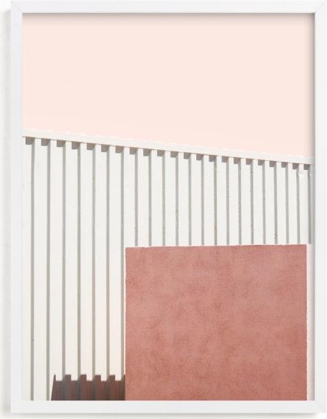 This is a white art by Lisa Sundin called Urban Desert Series 2.