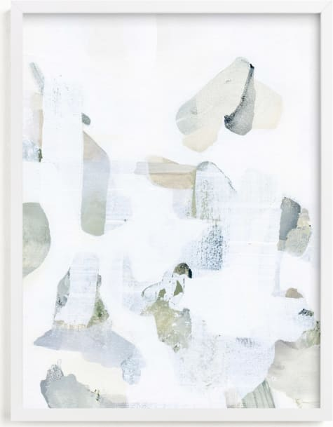 This is a white art by Ashleigh Ninos called Fragment.