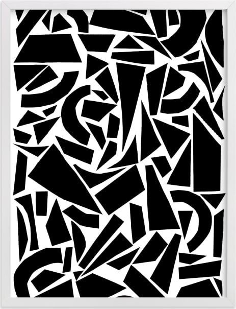 This is a black and white art by Elliot Stokes called Broken Glass.