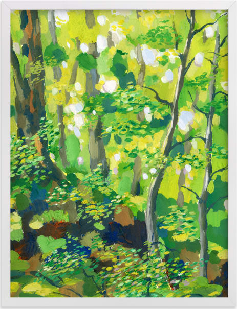 This is a colorful art by Alexandra Dzh called Green forest.