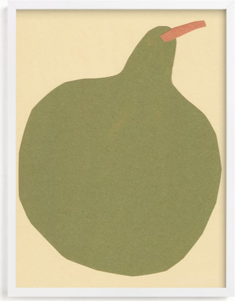 This is a brown art by Elliot Stokes called Big Pear.