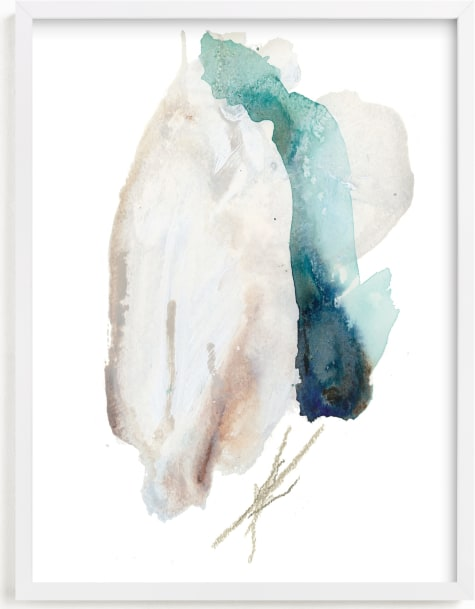 This is a blue art by Ariel Scholten called Advection.