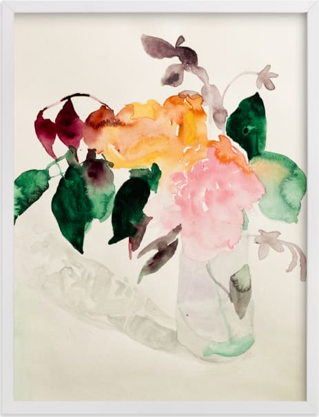 This is a colorful art by Betsyness Studio called Peonies.