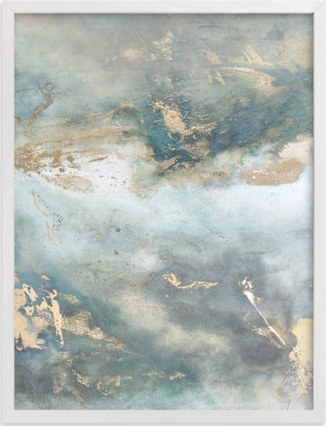 This is a beige art by Julia Contacessi called Luminous Smoke No. 2.