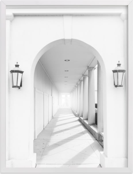 This is a white art by Ilze Lucero called Arches.