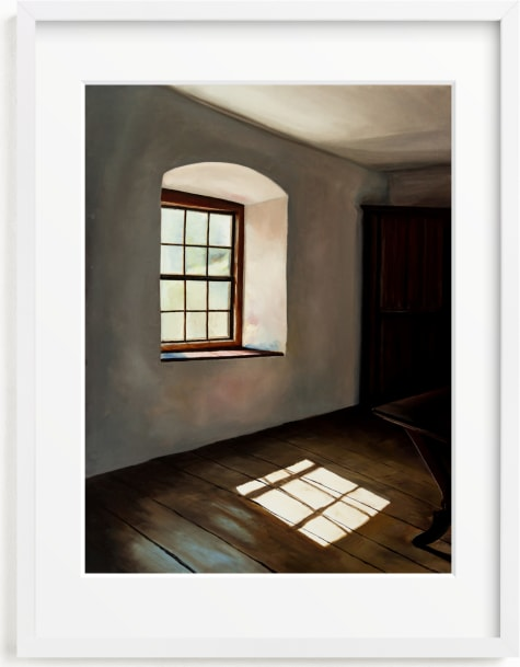 This is a brown art by Robert Deem called Light and Reflection.