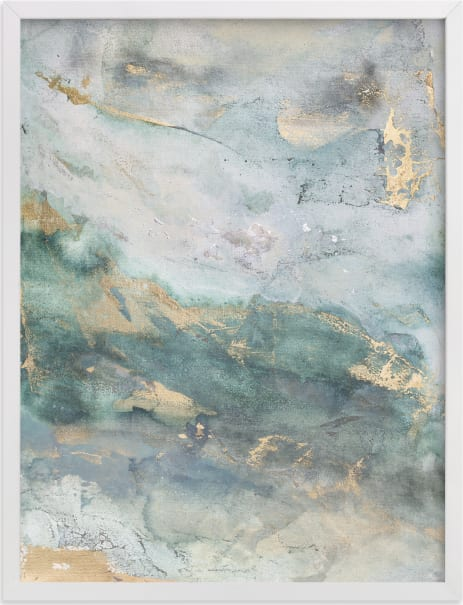 This is a beige art by Julia Contacessi called Luminous Smoke No. 1.