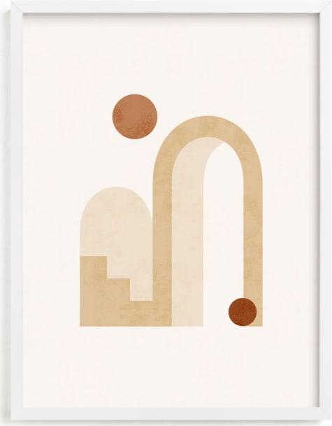 This is a brown art by Iveta Angelova called Rustic Geometry 3.