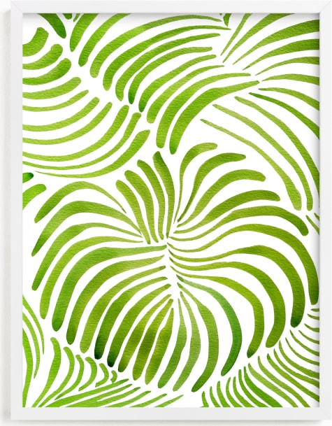 This is a green art by Deborah Velasquez called Minted Forest.