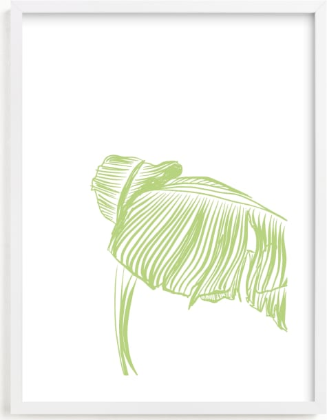 This is a green art by Alicia Youngken called Tropical Wave.