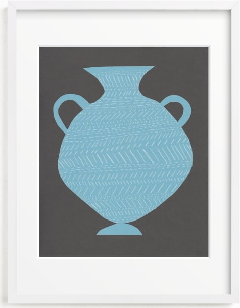 This is a blue art by Elliot Stokes called Amphora (blue).
