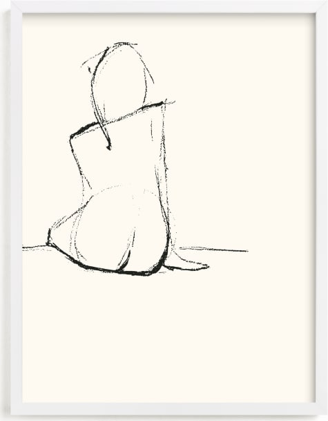 This is a black and white art by Amelie Conger called Composed.