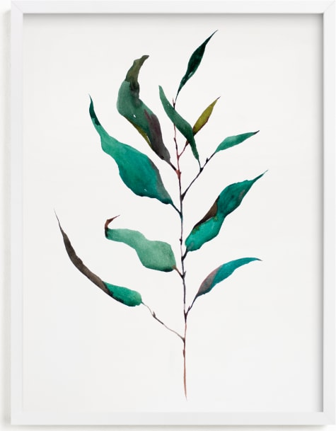 This is a green art by jinseikou called Eucalyptus Foliage.