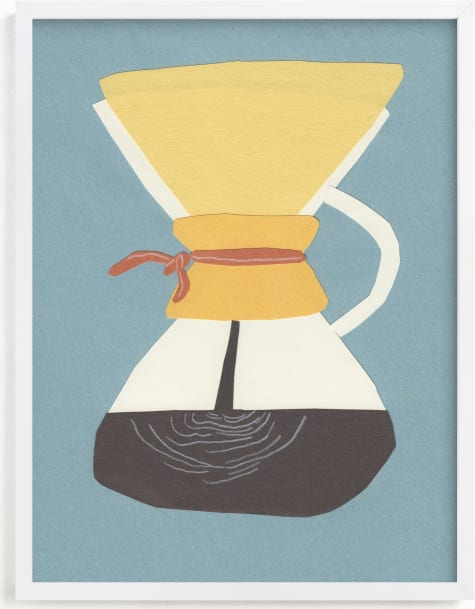 This is a blue art by Elliot Stokes called Chemex.