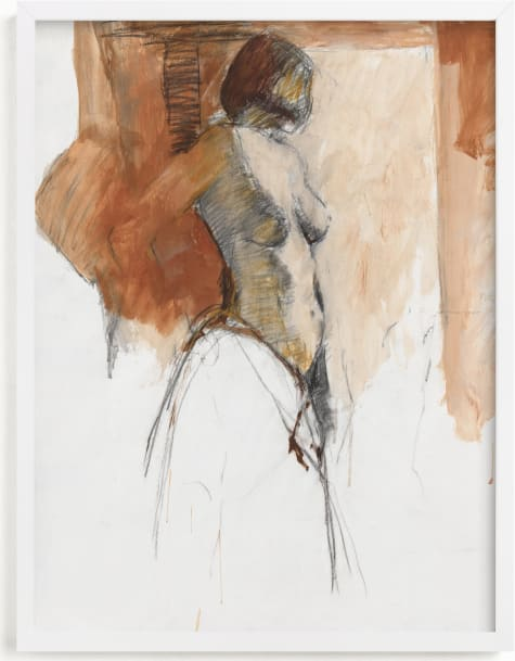 This is a brown art by Patricia Robitaille called After the Bath II.