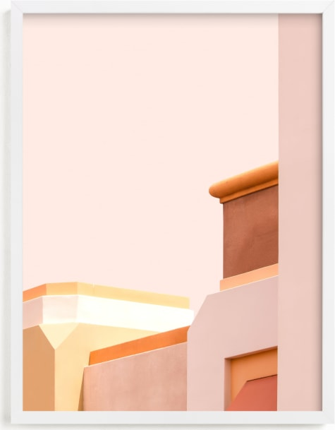 This is a pink art by Lisa Sundin called Urban Desert Series 1.