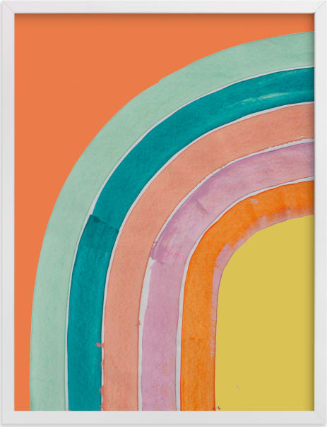 This is a colorful art by Lise Gulassa called Sherbet Rainbow.
