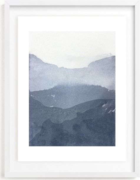 This is a blue art by Julia Contacessi called Sacred Beginning No. 1.