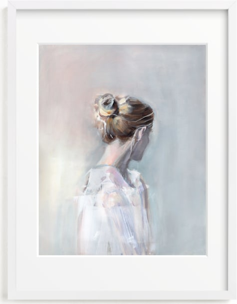 This is a blue art by Sarah McInroe called Linger.