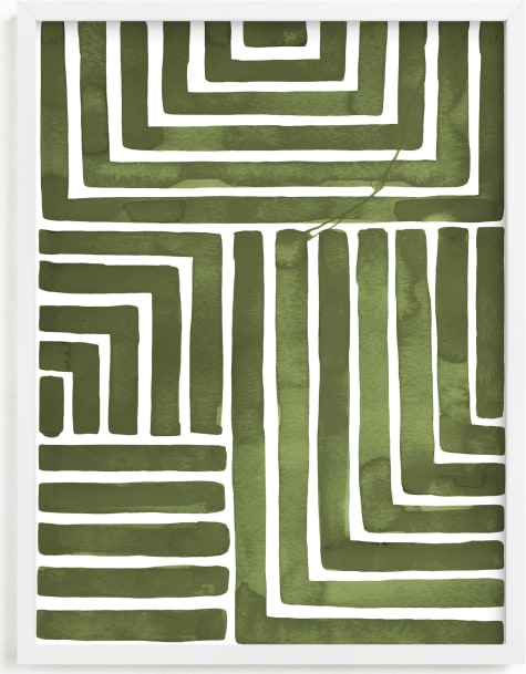 This is a green art by Kristine Sarley called Hard & Soft.