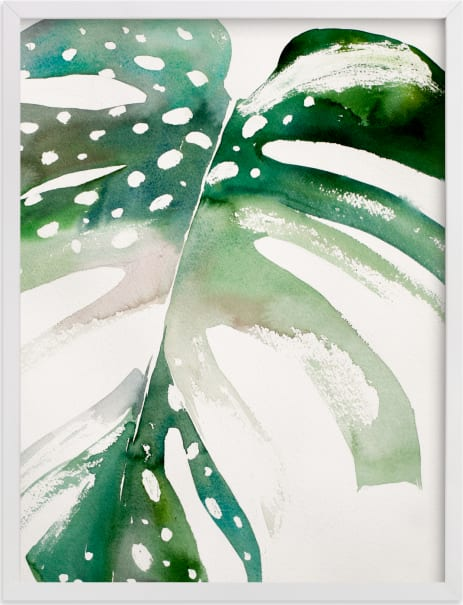 This is a green art by jinseikou called Begonia Monsteras.