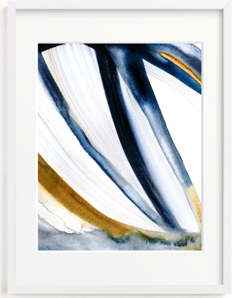 This is a blue art by Mary Gaspar called Modern Stripes.