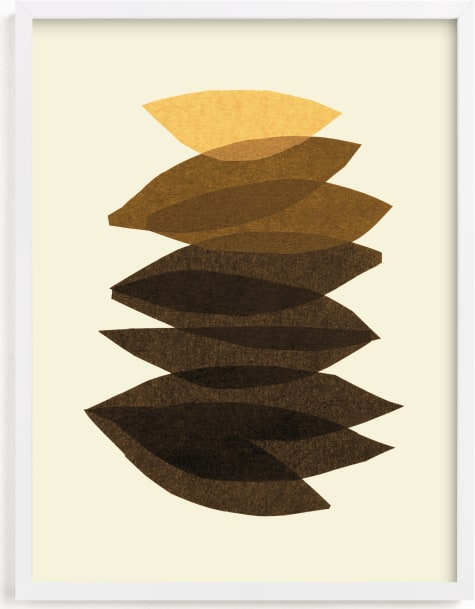 This is a brown art by Carrie Moradi called organic stack.