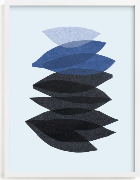 This is a blue art by Carrie Moradi called organic stack.