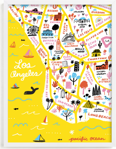This is a colorful art by Jordan Sondler called I Love Los Angeles.