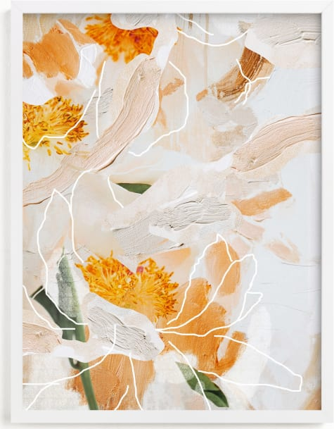 This is a orange art by Tanya Val called Painted Peonies.
