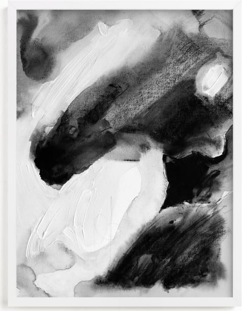 This is a black and white art by Katherine Jury called Hemingway.