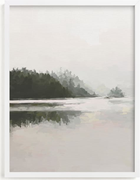 This is a white art by Amy Hall called LakeView II.
