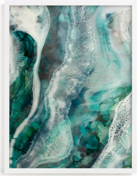 This is a blue art by Debi Perkins called Flow Through Me.