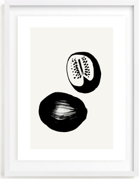 This is a black and white art by Sonya Percival called Watermelons.