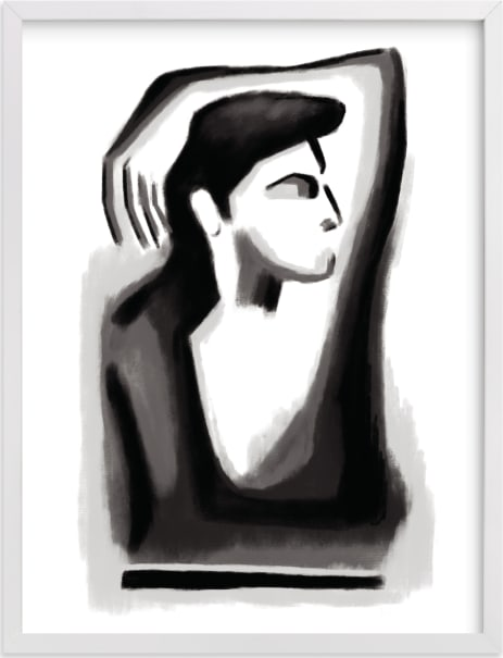 This is a black and white art by Mansi Verma called Contemplation.