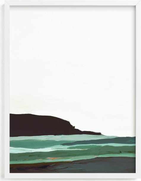 This is a white art by Caryn Owen called Abstract Pacific Seascape Diptych 2.