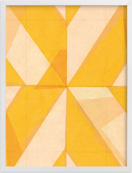 This is a yellow art by Kelly Nasuta called Abstract Layers 1.