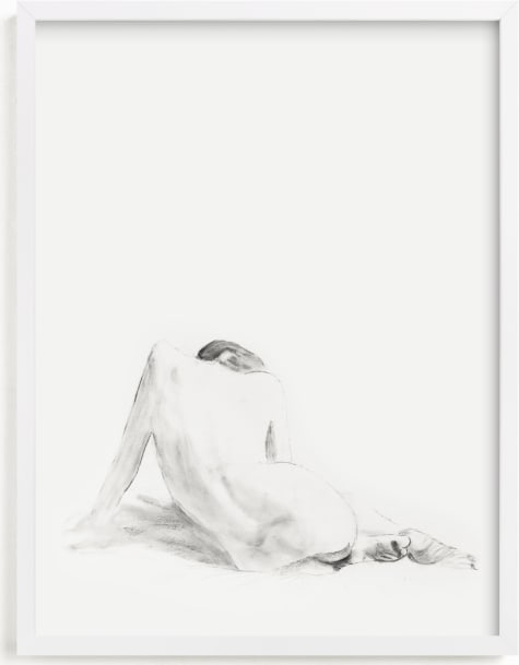 This is a black and white art by Ramnik Velji called Nude Study.