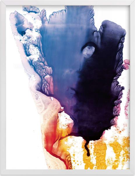 This is a blue art by Helen Halik called bright splash.