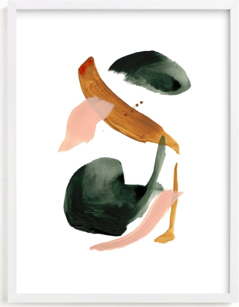 This is a pink art by Cait Courneya called Calm Forest No.18.