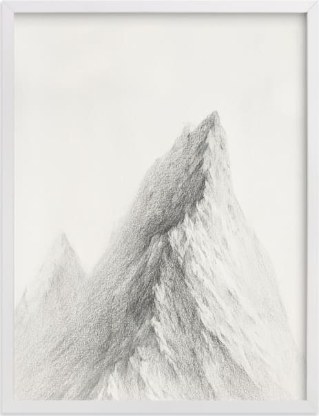 This is a black and white art by jinseikou called Mt. Winterfell.
